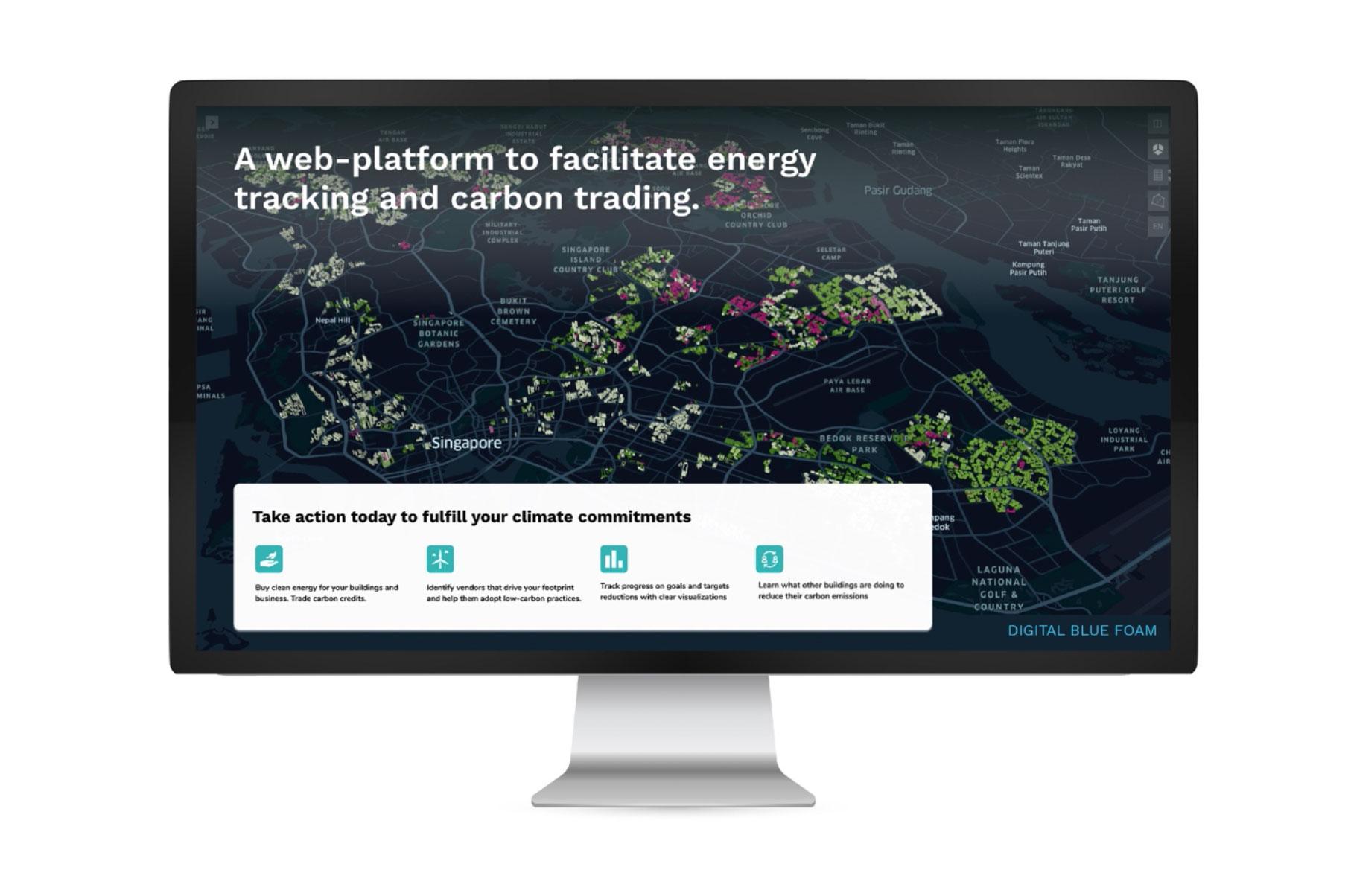 Digital Blue Foam Carbon Trading Platform